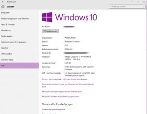 Windows 10 System-Info