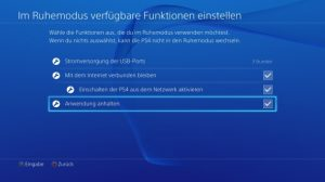 PlayStation 4 Ruhemodus