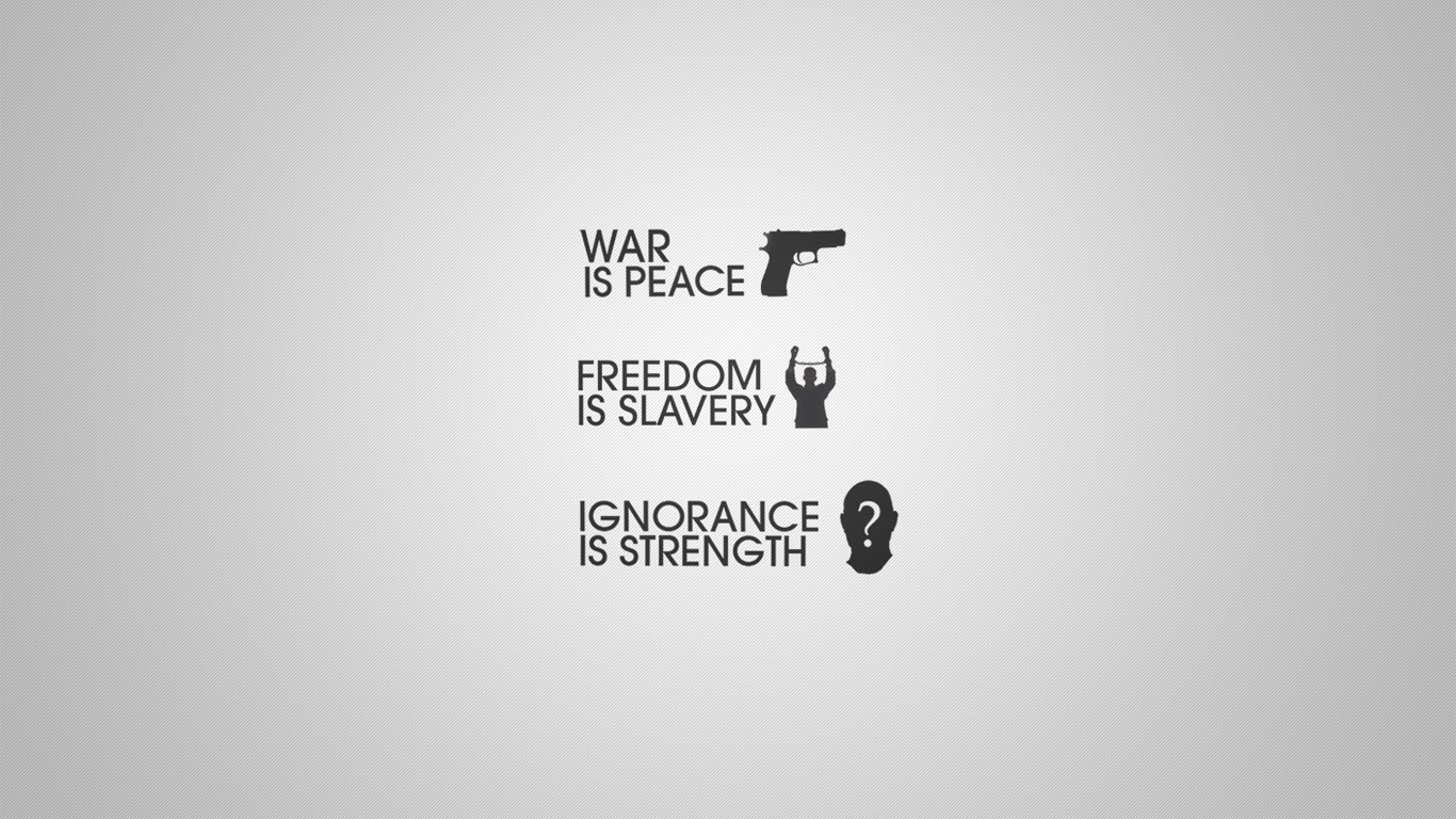 War is Peace Wallpaper