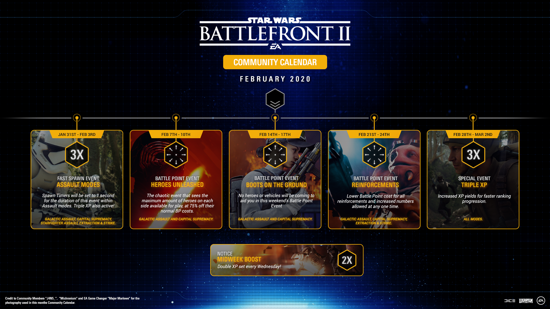 Star Wars: Battlefront 2 - Community Kalender Februar