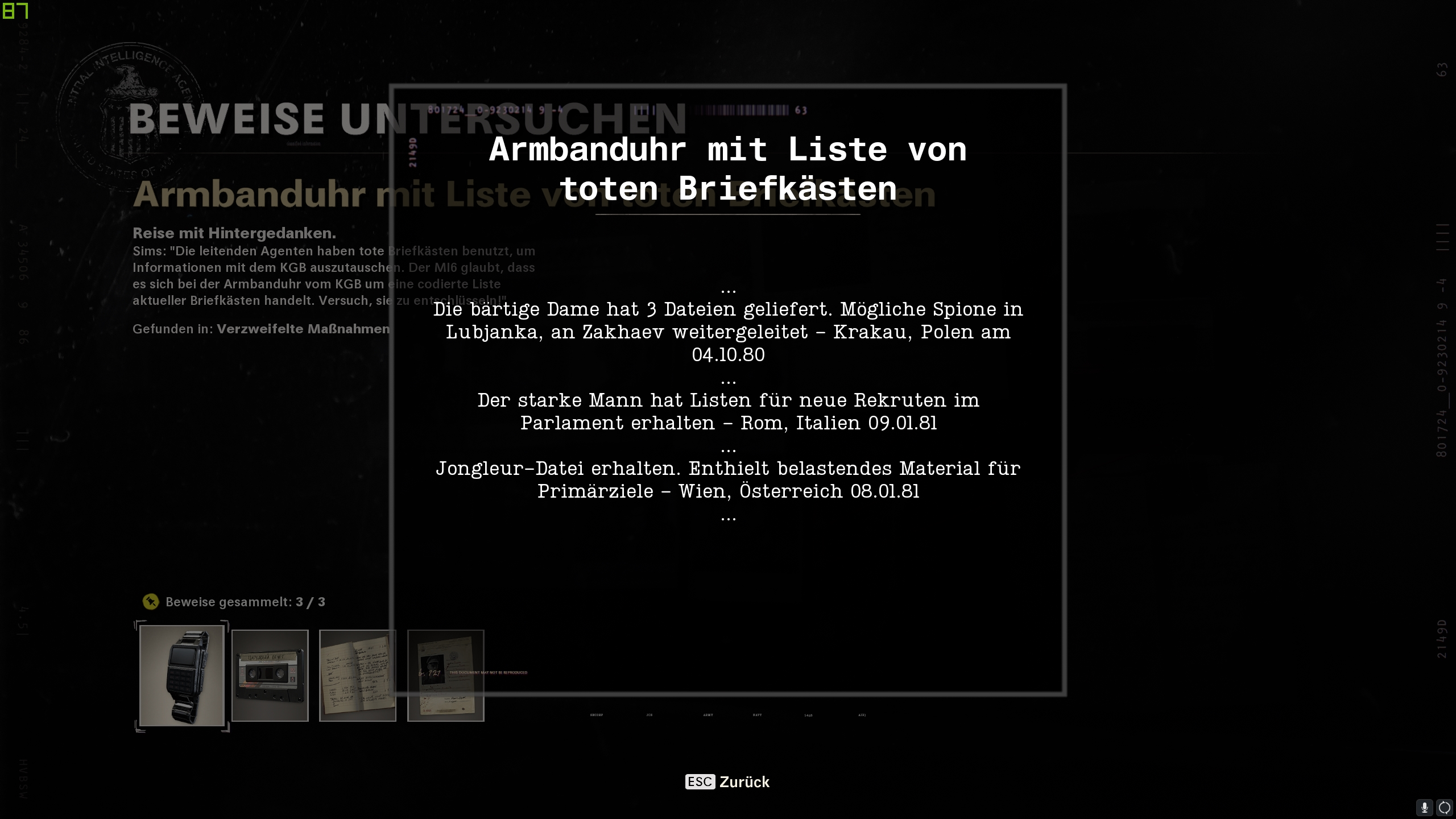 Call of Duty Black Ops Cold War - Operation Roter Zirkus - Armbanduhr