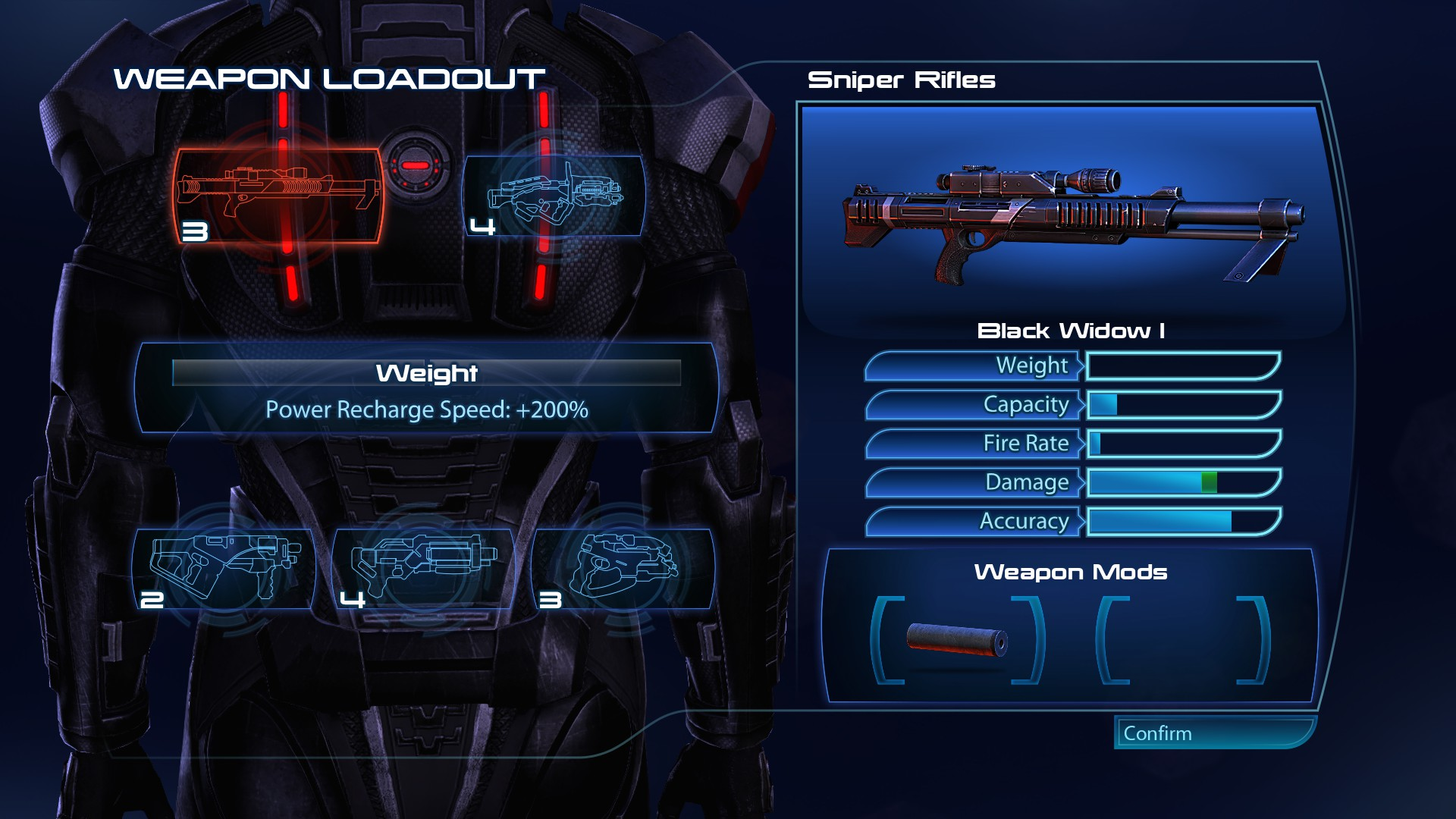 ME3LE Weightless Weapons